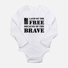 Land of the Free Camo Long Sleeve Infant Bodysuit