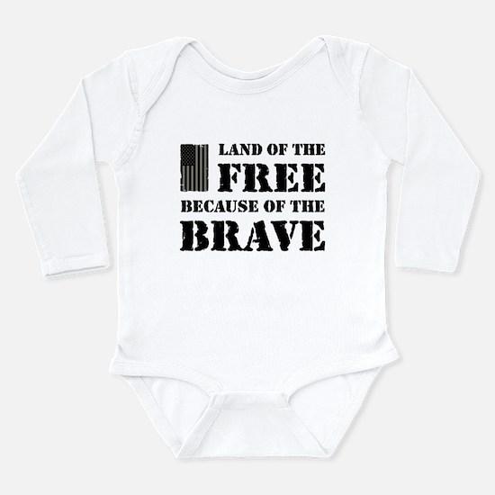 Land of the Free Camo Long Sleeve Infant Bodysuit
