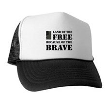 Land of the Free Camo Trucker Hat