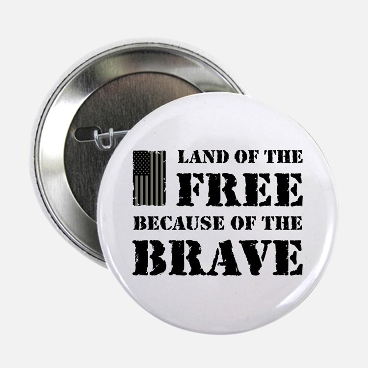 """Land of the Free Camo 2.25"""" Button"""