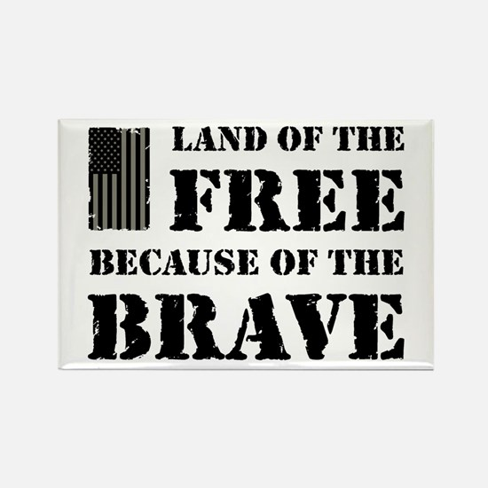 Land of the Free Camo Rectangle Magnet