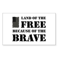 Land of the Free Camo Decal