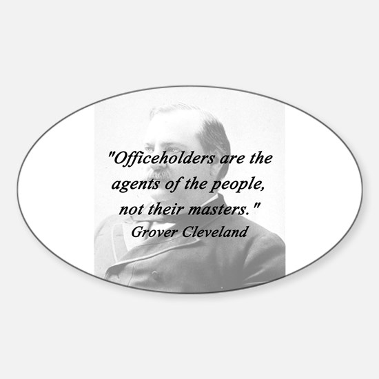 Cleveland - Officeholders Sticker (Oval)