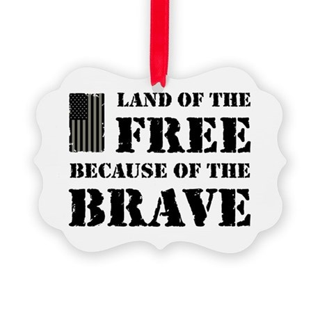 Land of the Free Camo Picture Ornament