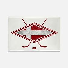 Danish Ishockey Hockey Flag Rectangle Magnet