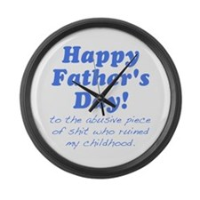 Happy Fathers Day... Large Wall Clock