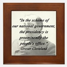 Cleveland - Presidency Framed Tile
