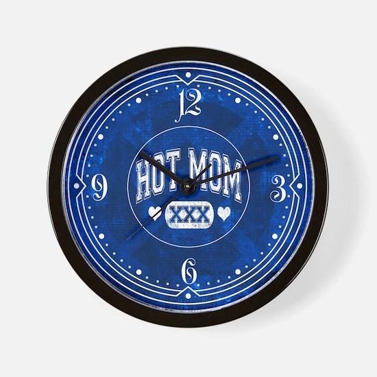 Hot Mom Blue Wall Clock