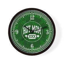 Hot Mom Green Wall Clock