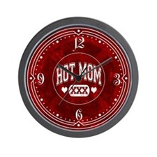 Hot Mom Red Wall Clock