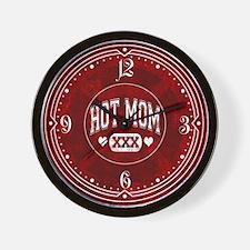 Hot Mom Red Wall Clock