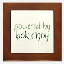 Powered By bok choy Framed Tile