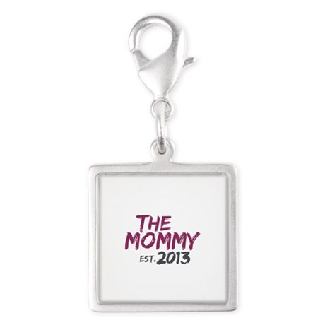 New Mommy Est 2013 Silver Square Charm