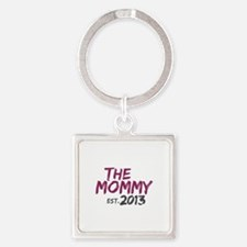 New Mommy Est 2013 Square Keychain