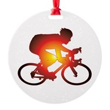 Sunset Bicycle Rider Ornament
