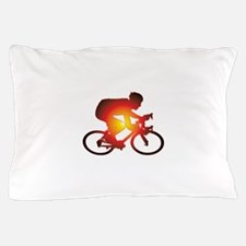 Sunset Bicycle Rider Pillow Case