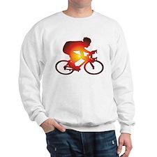 Sunset Bicycle Rider Sweatshirt