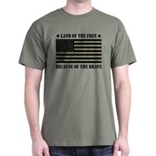 Land of the Free Camo Flag T-Shirt