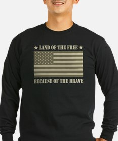 Land of the Free Camo Flag T