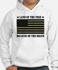 Land of the Free Camo Flag Jumper Hoody