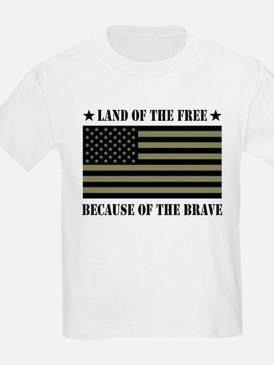 Land of the Free Camo Flag T-Shirt