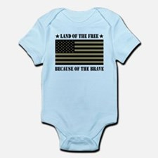Land of the Free Camo Flag Infant Bodysuit
