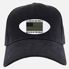 Land of the Free Camo Flag Baseball Hat