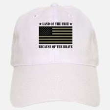Land of the Free Camo Flag Baseball Baseball Cap