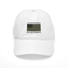 Land of the Free Camo Flag Baseball Cap