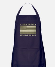Land of the Free Camo Flag Apron (dark)