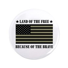 """Land of the Free Camo Flag 3.5"""" Button"""