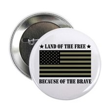 """Land of the Free Camo Flag 2.25"""" Button"""