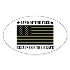 Land of the Free Camo Flag Decal
