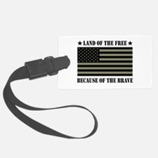 Land of the Free Camo Flag Luggage Tag
