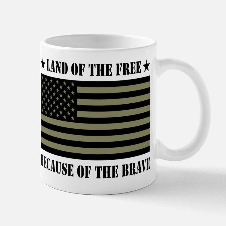 Land of the Free Camo Flag Mug