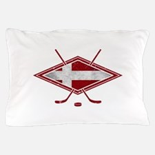 Danish Ishockey Hockey Flag Pillow Case