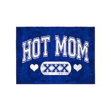 Hot Mom Blue 5'x7'Area Rug