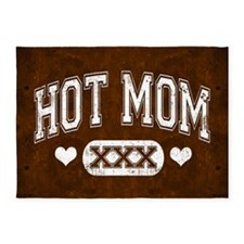 Hot Mom Brown 5'x7'Area Rug