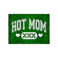Hot Mom Green 5'x7'Area Rug