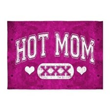 Hot Mom Pink 5'x7'Area Rug