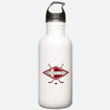 Danish Ishockey Hockey Flag Water Bottle
