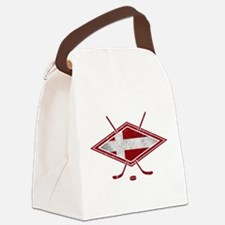 Danish Ishockey Hockey Flag Canvas Lunch Bag