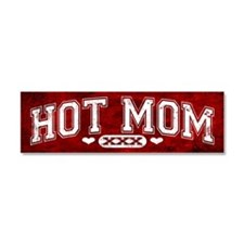 Hot Mom Red Car Magnet 10 x 3