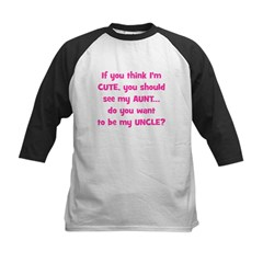 Think Im Cute - Aunt/Uncle Baseball Jersey