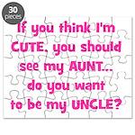 Think Im Cute - Aunt/Uncle Puzzle