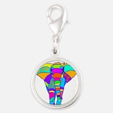 elephant colored designed Charms