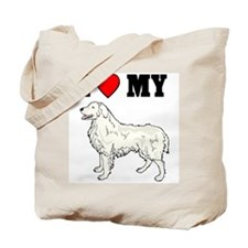 I (Heart) My Great Pryenees, Tote Bag
