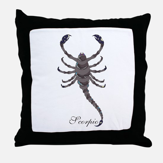 Starlight Scorpio Throw Pillow
