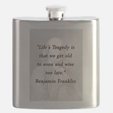 Franklin - Lifes Tragedy Flask