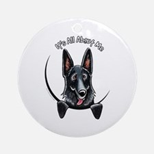 Black GSD IAAM Ornament (Round)